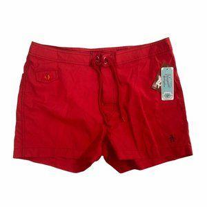 "Original Penguin 3"" Swim Trunks Board Shorts Red"
